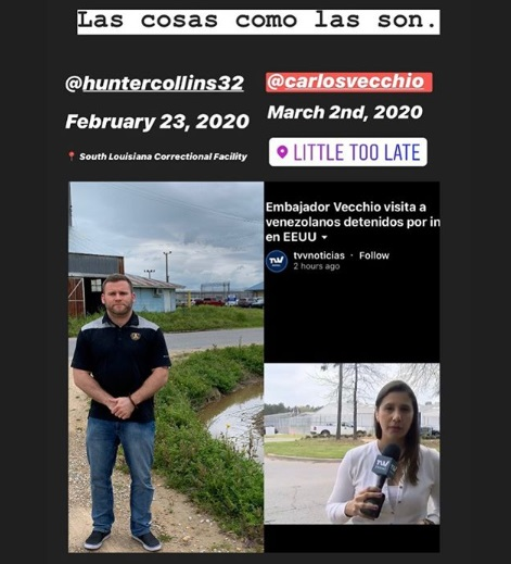 In his first 30 days as Citizen Ambassador, Hunter Collins visited Venezuelan refugees detained by ICE, whereas it took Carlos Vecchio over 13 months to get around to it