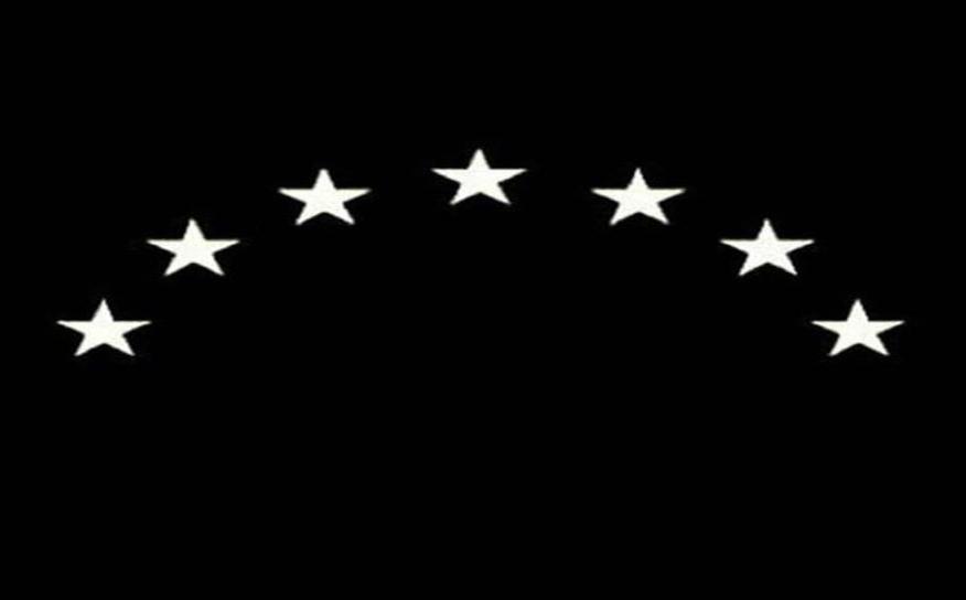 Bandera negra del Frente de Liberación Nacional de Venezeula
