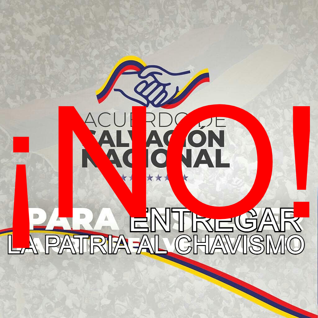 NO al Acuerdo de Salvacion Nacional